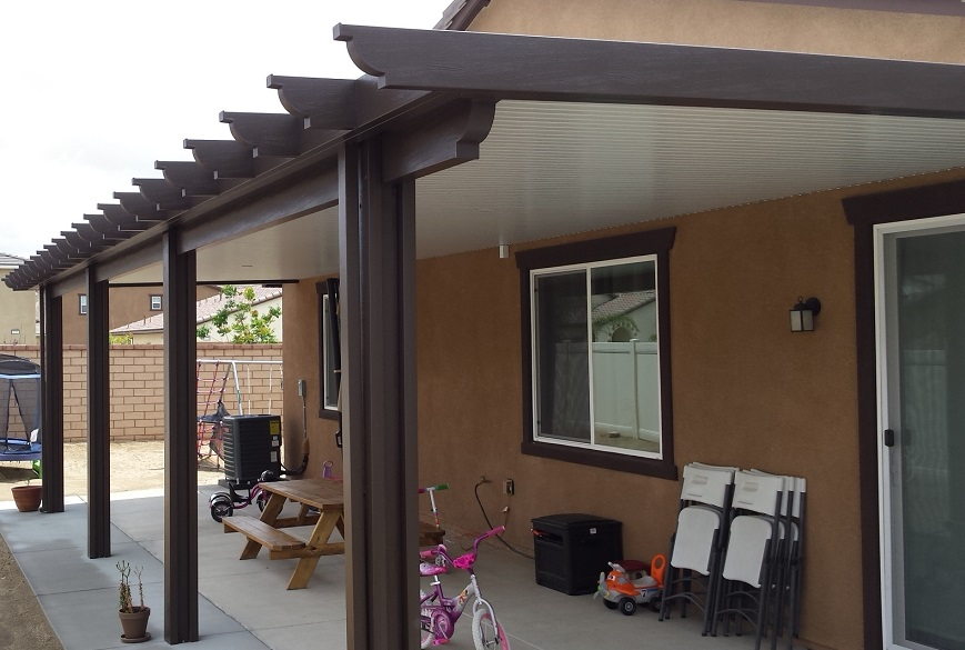 Aluminum Patio Cover Solid Roof Design In Menifee