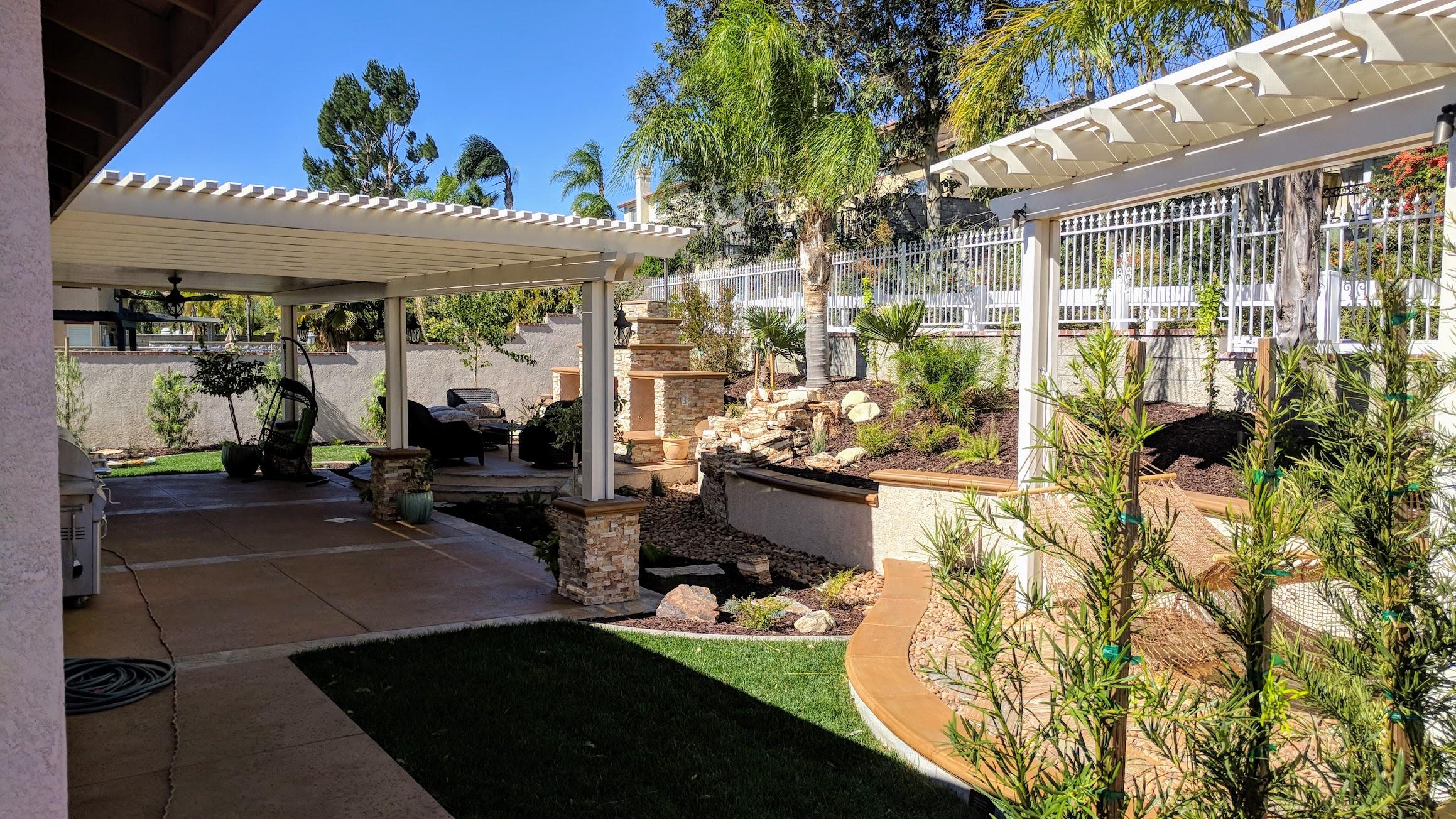 Patio Covers And Landscape Concrete Pavers Gazebos