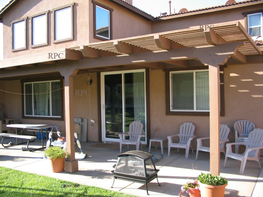 solid wood patio covers. Solid And Lattice Patio Cover On Conrete Slab Perris Ca. Wood Covers
