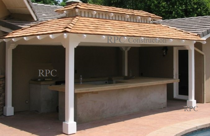 Unique Gazebo Style Cover For BBQ Island Redlands California