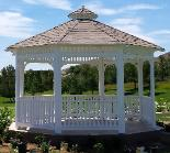 Solid Roof Octagon Gazebo California