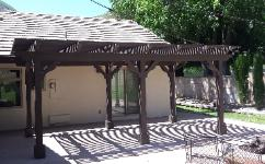 ree Standing Wood Patio Cover / Pergola Southern California