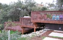 Hill Side Composite Deck with Handrail and Stairs Redlands Ca.