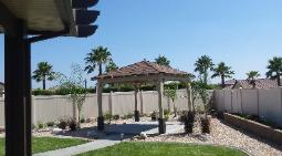 California Gazebo Square Hip Solid  Roof with Comp Shingles
