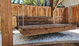 Rustic Wood Outdoor Daybed Southern California Covered Hanging
