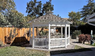 Vinyl Gazebo with Wood Roof 14' ft. California